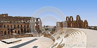 Roman Amphitheatre in Tunisia