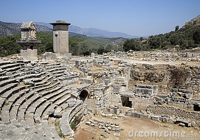 Roman Amphitheatre at Xanthos, Turkey