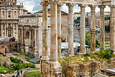 Roman antiquity: Roman Forum in Rome