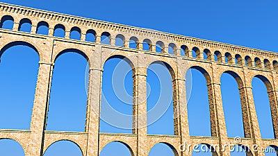 Roman Aqueduct Blue Sky