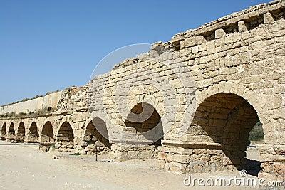 Roman aqueduct in Israel