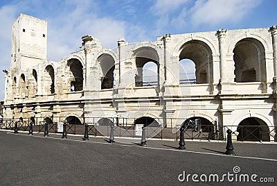 Roman Arena of Arles Editorial Stock Image