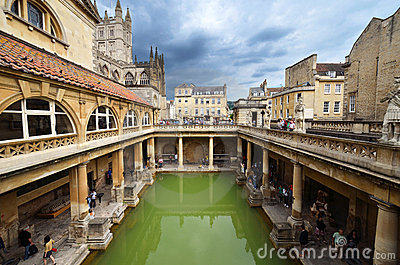 Roman bath Editorial Photography