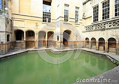 Roman bath at Bath in England