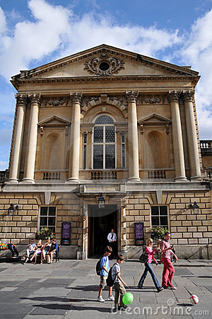 The Roman Baths in The City of Bath in England Editorial Photo