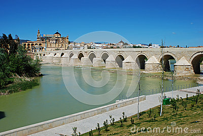 Roman bridge, Cordoba, Spain.
