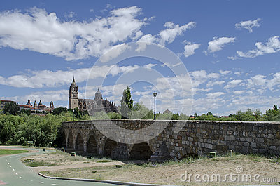 Roman Bridge in Salamanca