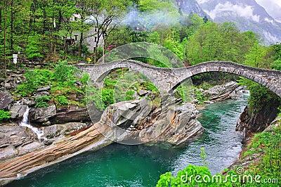 Roman Bridge in Vogorno