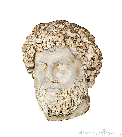 Roman bust of Aelius Verus isolated