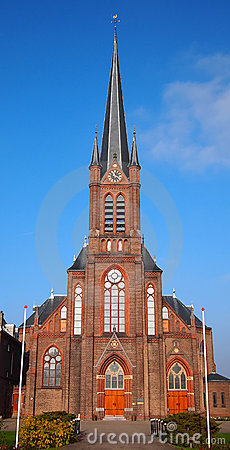 Roman catholic church against a blue sky