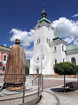 Roman catholic church at town Ruzomberok, Slovakia