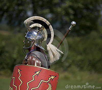 Roman centurion with shield