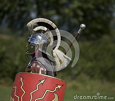 Roman centurion with shield