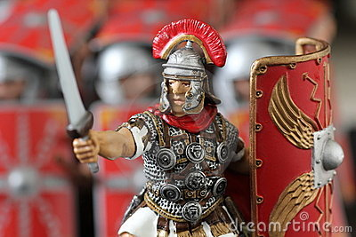 Roman centurion toy figure