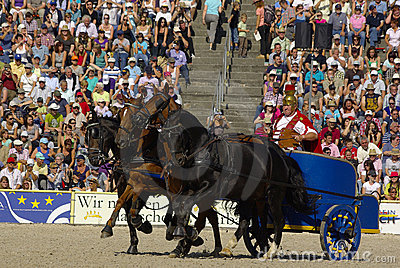 Roman chariot racing, Marbach Stallion Parade Editorial Photography