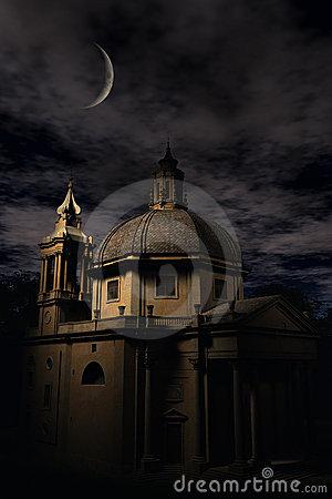 Roman Church at night