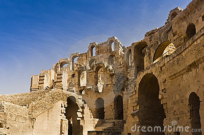 Roman Colosseum in Tunisia