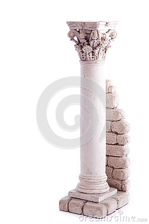 Free Roman Column Bookend Royalty Free Stock Photography - 25483387