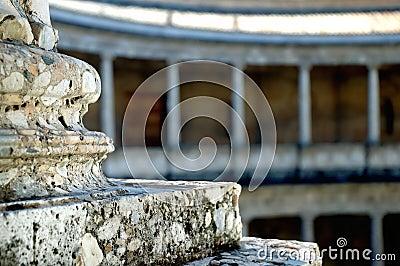 Roman column theme, closeup, A