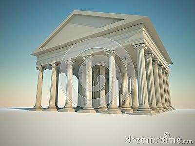 Roman columns building