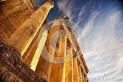 Roman Columns in Lebanon