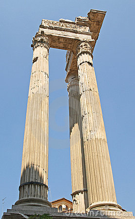 Free Roman Columns Near The Marcello Theatre Royalty Free Stock Photography - 12808187