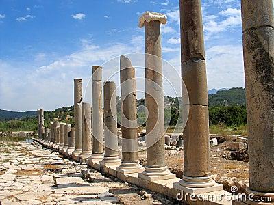 Roman columns, Patara