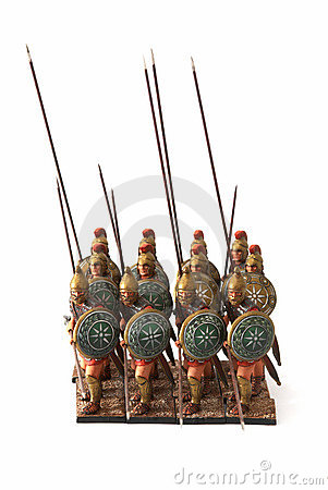 Free Roman Combat Phalanx Toys Stock Photo - 3933810