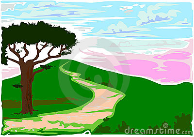 Roman Countryside Vector