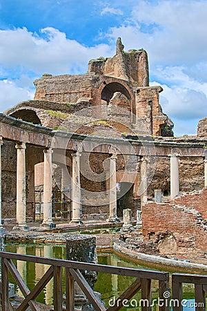 Roman emperor Adriano villa ruins in Tivoli