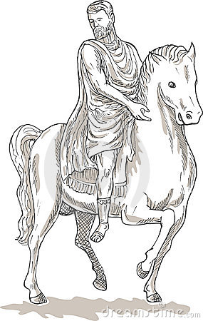 Free Roman Emperor General Horse Royalty Free Stock Photo - 12725095