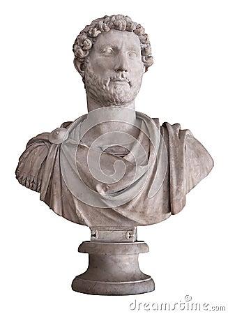 Free Roman Emperor Hadrian Isolated On Whi Stock Image - 13304651