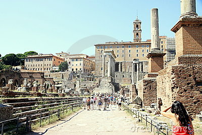 Roman Forum Editorial Stock Photo