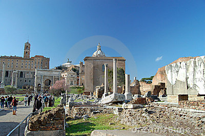 The Roman Forum Editorial Stock Photo