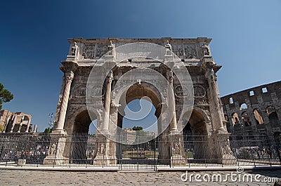 Roman forum. Arch of Constantine