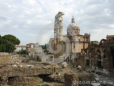 Roman Forum with church