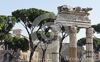 Roman Forum Corinthian Columns - Rome