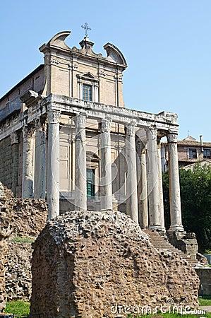 Roman forum - early christian church