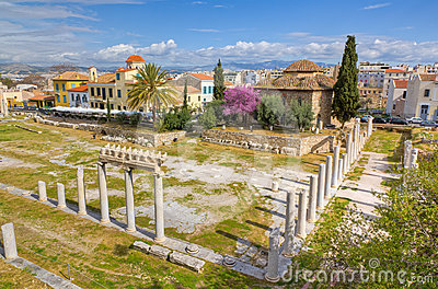 Roman forum and Fethiye Mosque, Athens, Greece