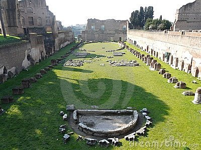 The Roman Forum (Foro Romano) in Rome, Italy