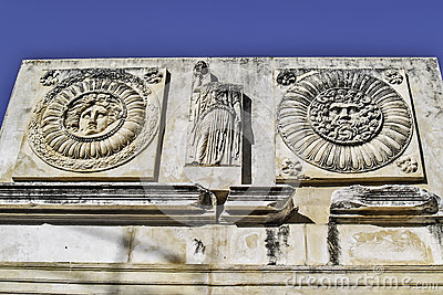 Roman forum in Merida detail