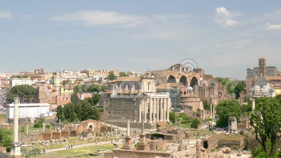 Roman Forum. Overlooking the Roman Forum in Rome stock footage