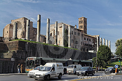Roman Forum in Rome Editorial Image