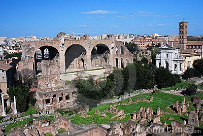 Roman Forum in Rome (Italy)