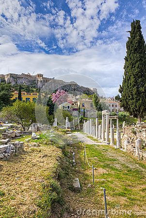 Roman forum ruins, Athens, Greece
