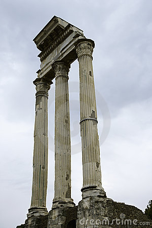Roman Forum ruins in Italy.