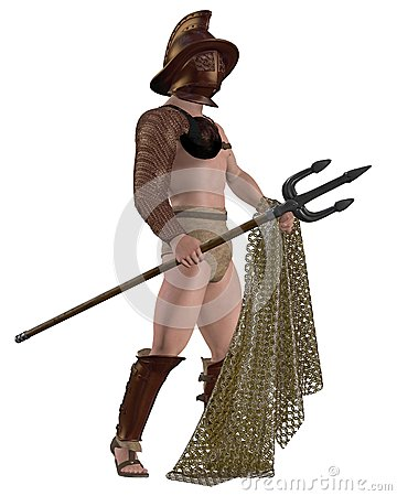 Roman Gladiator - Retiarius type with net