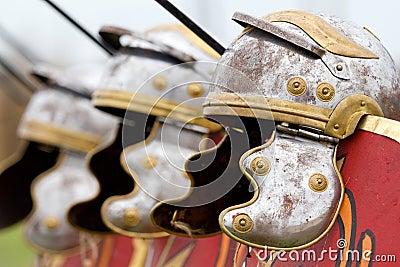 Roman helmets