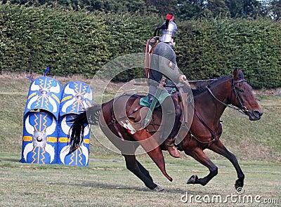 Roman Horsemann On Target
