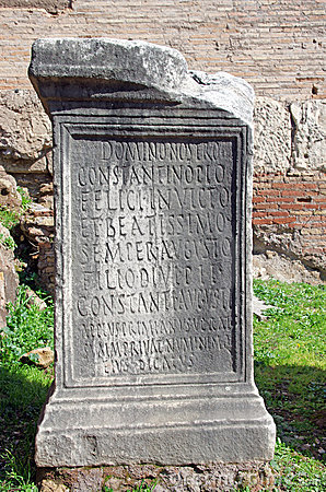 Roman inscription on a stone